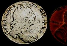 T634a: 1697 William III Silver Sixpence - the year of Britain's worst storm ever