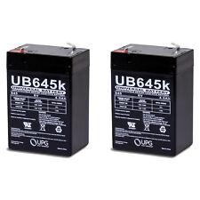 UPG 2 Pack - 6VOLT 4.5AH RECHARGEABLE GAME FEEDER SLA 6V BATTERY