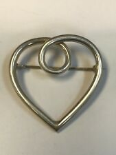 925 Heart Brooch Beautiful Solid Sterling Silver