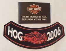 Harley Davidson Motorcycle HOG 2006 Rocker Patch + HD True for 100 Years Pin
