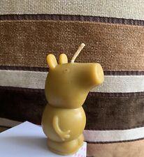 Handmade 100% Pure Beeswax Peppa Pig Shape Candles 100% Cotton Wick