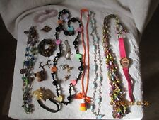 lot of costume jewelry beads pins bracelets watch CRAFTERS
