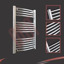600mm(w) x 800mm(h) Curved Chrome Heated Towel Rail 1654 BTUs Radiator Warmer