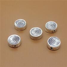 2 Karen Hill Tribe Silver Spiral Beads Swirl Beads for Bracelet Necklace