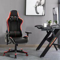 Ergonomic Gaming Chair Racing Recliner Adjustable Office Gamer Chair PU Leather