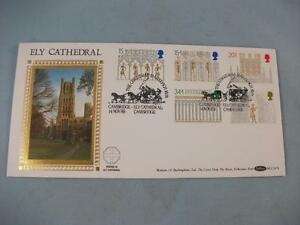 1989 Ely Cathedral Benham F.D.C. Stamp Cover carried, Mailcoach Run pmk BLCS47b