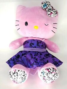 Build a Bear Sanrio Hello Kitty Pink Winking Leopard Print Plush Stuffed Animal
