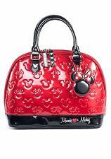 Disney Minnie Mouse Black Red Purse Handbag  Loungefly Bowler Bag Licensed