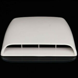 Car Air Flow Intake Scoop Turbo Bonnet Vent Cover Hood Decorative ABS Universal