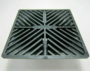 NDS Drainage Square Grate 6 inch for 3 inch or 4 inch Pipe Plastic Black