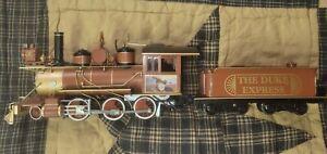 Hawthorne village JOHN WAYNE Steam Locomotive & coal tender train cars on30 DUKE