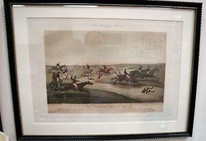 HENRY ALKEN The Quorn Hunt Original Aquatint ca1840 Equestrian Framed