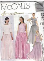 McCalls Pattern 2393 Sz 12 14 16 Evening Elegance 2 Piece Corset Look Top Skirt Uncut