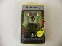 New Skullcandy Smokin Ear Buds Mic'd Rasta Green