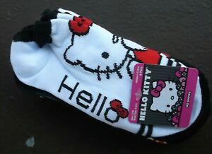 Kids Girls ankle socks Hello Kitty pink white 6-3 new