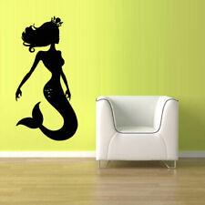 Wall Vinyl Sticker Decal Sea Ocean Mermaid Princess Crown Nymph (Z2447)