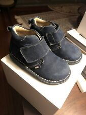 EU Size 23 US 6.5 7 Blue Suede Chukka Boots Kid express Navy KidEx Boys Toddler