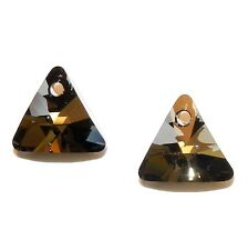 SCDX2112 Silver Night 12mm Xilion Faceted Triangle Swarovski Crystal Beads 2pc