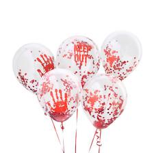 Halloween Bloody Confetti Latex Balloons  5pcs Spooky Halloween Party Decor