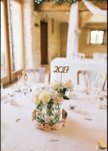 Wedding Table Centrepieces - Blush Pink White Ivory Floral Pieces X6