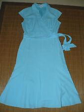 Wadenlange Damenkleider mit V-Ausschnitt aus Baumwolle ohne Muster