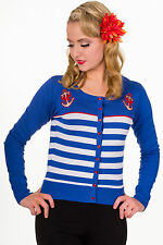 Women's Crew Neck Button Striped Jumpers & Cardigans