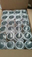 (4).NEW Aluminum/Metal Silver Coors Light 16 Oz. Beer Tumbler/Cup