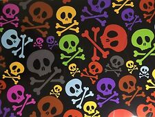 HYDROGRAPHIC FILM WATER TRANSFER HYDRO DIP HYDRO-DIPPING SKULLS & CROSSBONES 1M