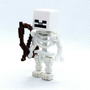 LEGO Minifigure Skeleton with Cube Skull min011 Minecraft