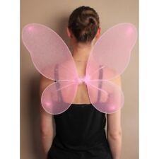 Flügel  Engel Schmetterling Fee Kostüm Schmetterlingsflügel rosa silber Glitter