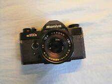 Mamiya NC1000s rara cuerpo Negro + Lente 50mm - 35mm Cámara de película vintage -! Funcionando!