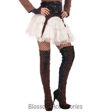 A988 Steampunk Thigh High Ladies Costume Boot Tops Renaissance Pirate Medieval