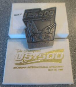 1996 CHAMP CAR CART INDY Michigan US-500 Silver Pit Badge & TEN event stickers