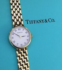 Yellow Gold Watch In Box ~ Unsized Mint Ladies Tiffany & Co All 14K