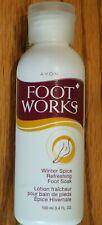 Nos Avon Foot Works Winter Spice Refreshing Foot Soak 3.4 Fl. Oz.