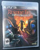 Sony PS3 Playstation 3 Resident Evil Operation Raccoon City, Complete w/Manual
