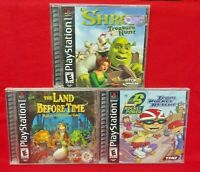 Land Before Time, Rocket Power, Shrek Disney Game Lot - Playstation 1 2 PS1 PS2