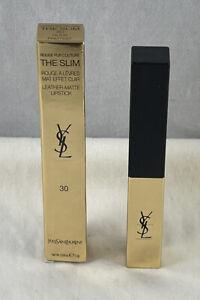 Yves Saint Laurent Rouge Pur Couture THE SLIM Leather Matte Lipstick ~ 30 ~ NIB