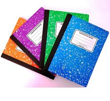 "Composition Notebook Wide Ruled Green Purple Orange Blue (4 Pk) 9-3/4"" x 7-1/2"""