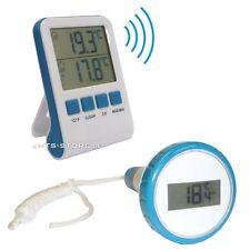 Teich Pool Funk Thermometer Schwimmbad Badewannde IPX8 Temperatur Sensor Messen