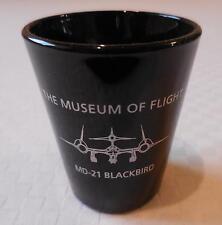 Museum of Flight MD-21 Blackbird Jet Shot Glass - Black