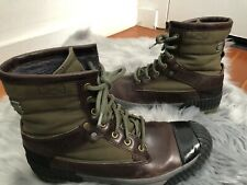 G STAR RAW Sherpa Marker Mix Brown Green Leather Waxed Cotton Hiking Boots 11/44