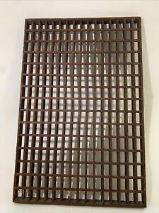 "Antique Vintage WOODEN OAK Floor/Wall/Vent/Decorative Grate, 30"" X 20"" X 1-3/8"""