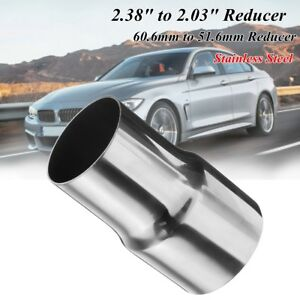 """2.38"""" to 2"""" 60mm-50mm Steel Standard Exhaust Reducer Connector Adapter Pipe Tube"""