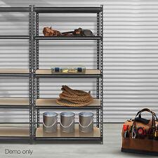 5-Tier Industrial Shelving Unit Organizer Storage Rack 200kg Per Shelf Charcoal
