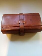 Antique Burroughs & Wellcome & Co Pharmaceutical Leather Case With Glass Tubes.