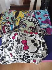 Monster High Twin Bedding Set Silky Flannel Sheet w/ Reversible Pillow case