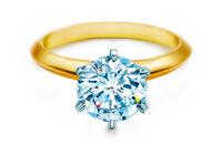 Bridal Ring Round Brilliant Solitare Diamond Wedding Engagement 14k Yellow Gold
