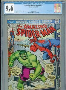 1973 MARVEL AMAZING SPIDER-MAN #119 JOHN ROMITA HULK CROSSOVER CGC 9.6 WHITE