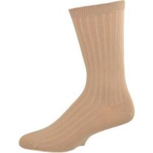 Big Boys & Girls (Unisex) Classic Dress Uniform Ribbed 3 Pair Pack Crew Socks